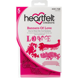 Heartfelt Creations stanssisetti Banners Of Love