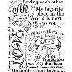 Heartfelt Creations leimasin Forever Love Background