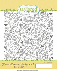 Taylored Expressions leimasin Luv-a-Doodle Background