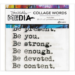 Dina Wakley Media Collage Word Pack Tissue -paperipakkaus