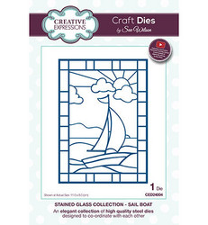 Creative Expressions stanssi Stainded Glass Sail Boat