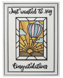 Creative Expressions stanssi Stainded Glass Hot Air Balloon