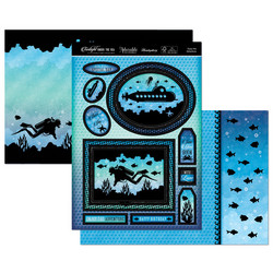 Hunkydory Twilight Under the Sea Luxury Topper -pakkaus, Enjoy the adventure