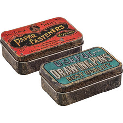 Tim Holtz Idea-Ology Metal Trinket Tins -rasiat
