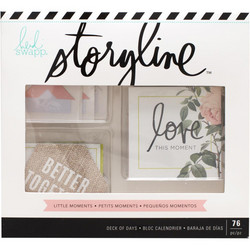 Heidi Swapp Storyline Deck Of Days -pakkaus, Little Moments , 76 osaa