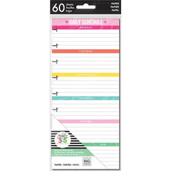 Mambi Happy Planner paperipakkaus, Half Sheet Daily Schedule