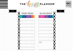 Mambi Happy Planner paperipakkaus, Half Sheet Budget