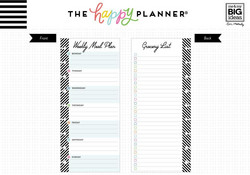Mambi Happy Planner paperipakkaus, Half Sheet Meal Planning