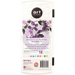 Prima Metallic Accents Semi-Watercolor Paint -setti Pastel
