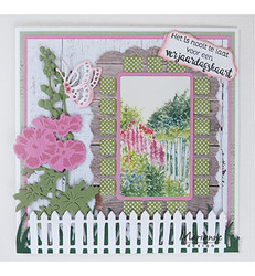 Marianne Design Tiny's hollyhocks -stanssisetti