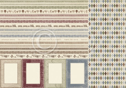 Pion Design The World Awaits skräppipaperi Borders