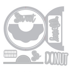 Sizzix Thinlits Card Donut Fold-a-Long -stanssisetti