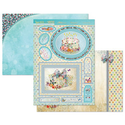Hunkydory Sparkle & Shine Mirri Magic Luxury Topper -pakkaus, Birthday Wishes