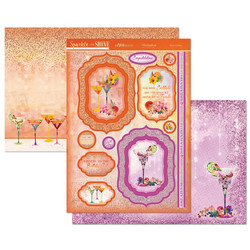 Hunkydory Sparkle & Shine Mirri Magic Luxury Topper -pakkaus, Raise a Glass