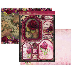 Hunkydory Sparkle & Shine Mirri Magic Luxury Topper -pakkaus, Resplendent Roses