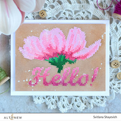 Altenew Cross Stitch Flower -leimasinsetti