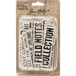 Idea-Ology Chipboard Quote Chips, 58 kpl
