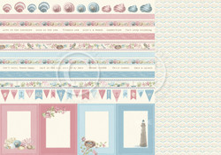 Pion Design Seaside Stories skräppipaperi Borders