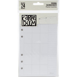 Simple Stories Carpe Diem Personal Planner Double-Sided Inserts -lisäsivut, calendar