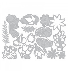 Sizzix Tim Holtz Thinlits Funky Floral #3 -stanssisetti