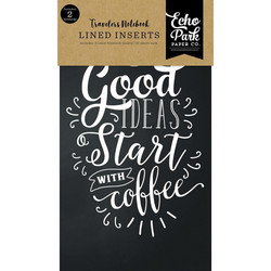 Echo Park Traveler's Notebook Insert Coffee & Friends Lined -muistikirjat, 2 kpl