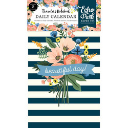 Echo Park Traveler's Notebook Insert Fancy Flora Daily Calendar -muistikirjat, 2 kpl