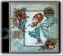 Whimsy Stamps Silver Fairy -leimasin