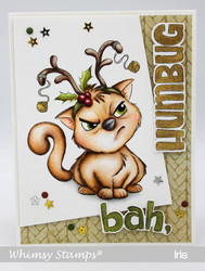Whimsy Stamps Reindeer Kitty -leimasin