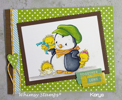 Whimsy Stamps Penguin's Cute Chicks -leimasin