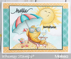 Whimsy Stamps Fish in the Sun -leimasin
