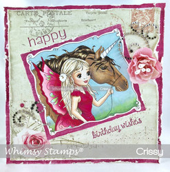 Whimsy Stamps Fairy and Unicorn Friends -leimasin