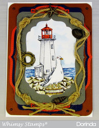 Whimsy Stamps Lighthouse -leimasin