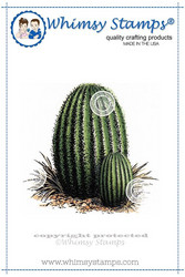 Whimsy Stamps Barrel Cactus -leimasin