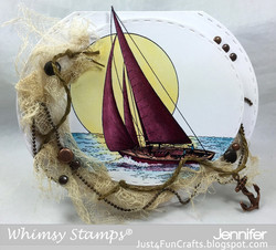 Whimsy Stamps Sailboat -leimasin