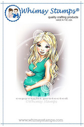 Whimsy Stamps Pregnant and Loving It -leimasin