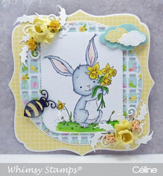 Whimsy Stamps Spring Bouquet Bunny -leimasin