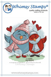 Whimsy Stamps Winter Birdy Love -leimasin