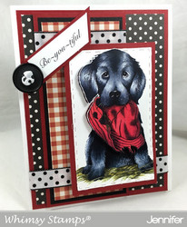 Whimsy Stamps Bad Doggy -leimasin