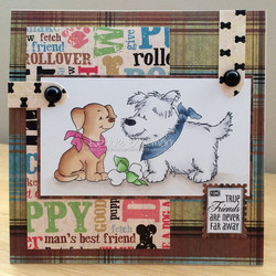 Whimsy Stamps Doggie Gift -leimasin