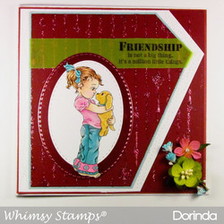 Whimsy Stamps Nose to Nose -leimasin