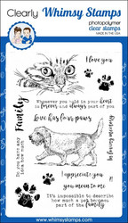 Whimsy Stamps Love Has Four Paws -leimasinsetti