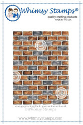 Whimsy Stamps Brick Background -leimasin
