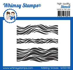 Whimsy Stamps Making Waves -sapluuna