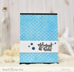 Whimsy Stamps Mermaid Scales -sapluuna