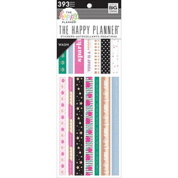 Mambi Happy Planner Washi Sticker Book -tarrapakkaus Girly