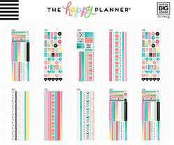 Mambi Happy Planner Washi Sticker Book -tarrapakkaus Fitness
