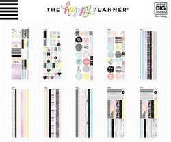 Mambi Happy Planner Washi Sticker Book -tarrapakkaus Pastels
