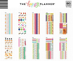 Mambi Happy Planner Washi Sticker Book -tarrapakkaus Seasonal