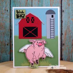 Art Impressions leimasin- ja stanssietti Pig Flutter