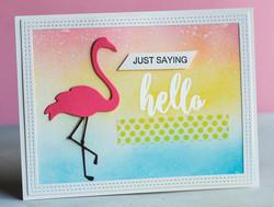 Poppystamps Fine Flamingo -stanssi